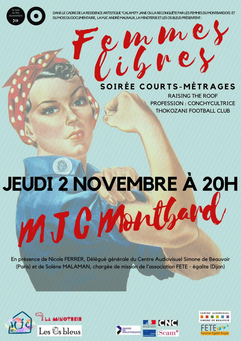 2 novembre : projection rencontre Femmes libres à la MJC de Montbard (Côte d'Or)