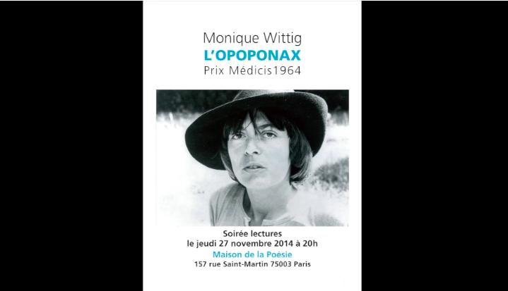 Découvrez la vidéo de la soirée de lectures musicales consacrée à «L'Opoponax» de Monique Wittig